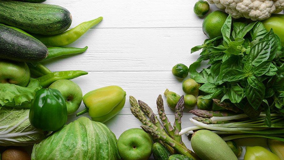 Зеленые овощи при диете