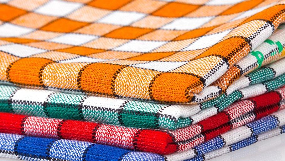 Как отстирать кухонные полотенца: способы домашней чистки