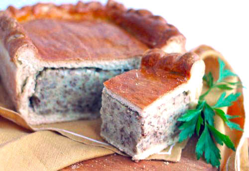 Гречнево-картофельный пирог