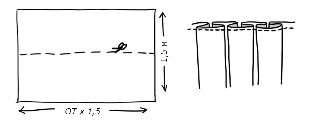 Как сшить юбку с бантовыми складками без выкройки