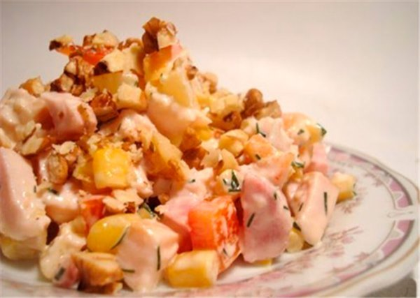 Салат -Дамский каприз- - лучшие рецепты