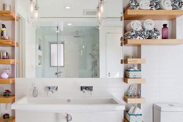 12 идей для хранения вещей в маленькой ванной