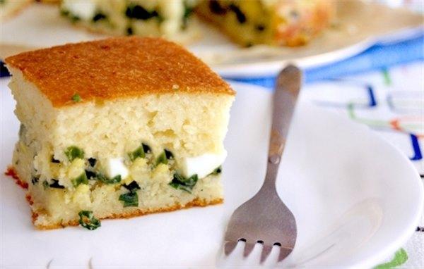 Быстрый пирог с луком и яйцом – без хлопот