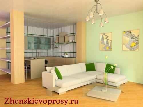 Как зонировать однокомнатную квартиру?