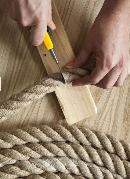 Стильные коврики из веревки… Уж точно, все соседки будут завидовать!