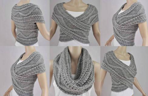 Как связать стильный шарф-трансформер: 2 способа со схемами и описанием. Легкий, мягкий, пушистый…