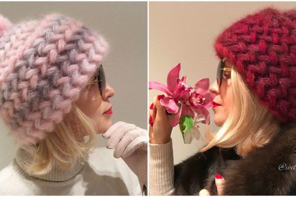 Теплая и стильная шапочка для суровых морозов своими руками