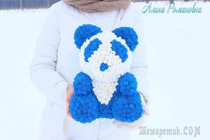 Панда из роз