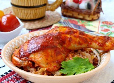 Куриные окорочка в томатно-сметанном соусе