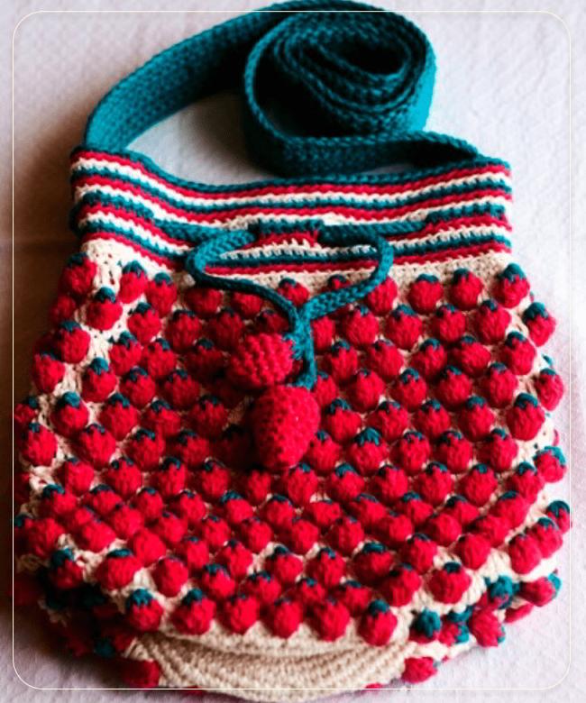 Заманчивый узор -Клубнички- для вязания крючком