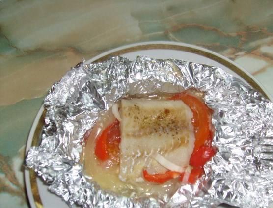 Пангасиус в фольге с овощами – пошаговый рецепт с фото на