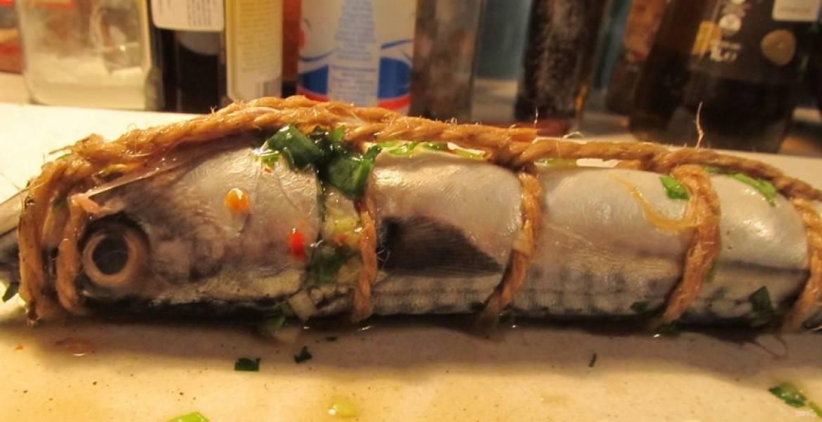 Фаршированная скумбрия — Идиллия — пошаговый рецепт