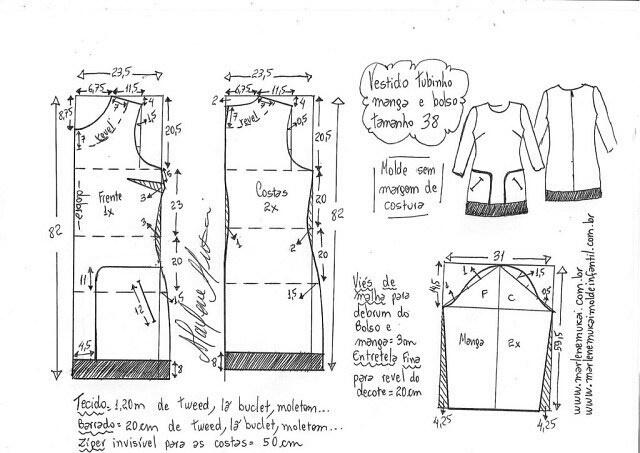 Выкройка шанелевского платья