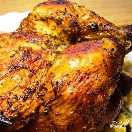 Цыпленок с чесноком и тимьяном — пошаговый рецепт