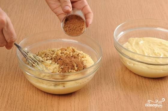 Мраморный кекс на сгущенке — пошаговый рецепт с фото на
