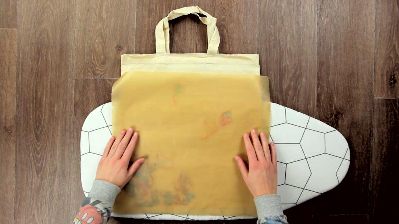 Как сделать красивый узор для ткани из старых пакетов