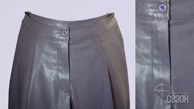 Выполнение гульфика на брюках из экокожи ( 26 фото )