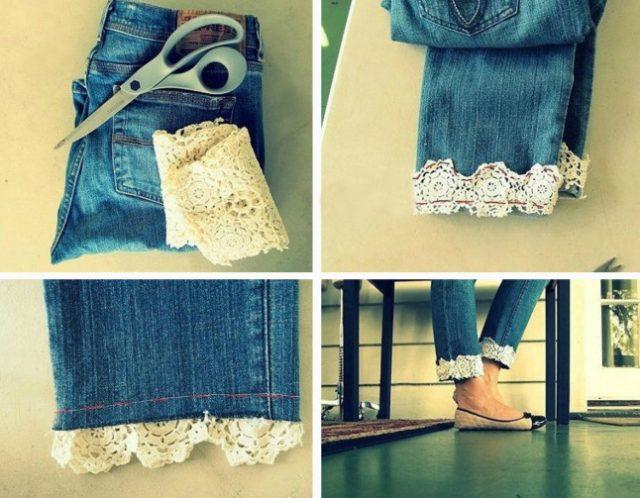 Потрясающие идеи сочетания кружева и джинса
