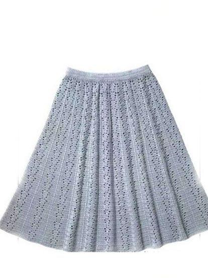 Вязание крючком юбки. 11 схем
