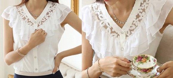 Выкройка романтической женской блузки