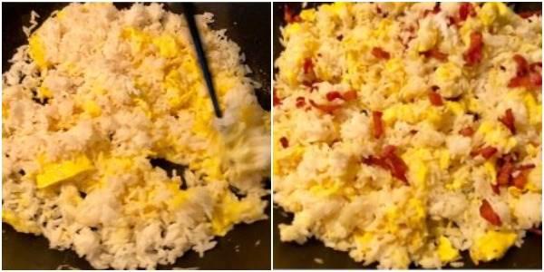 -Русский- жареный рис с яйцом: легкий рецепт ( 4 фото + 1 видео )