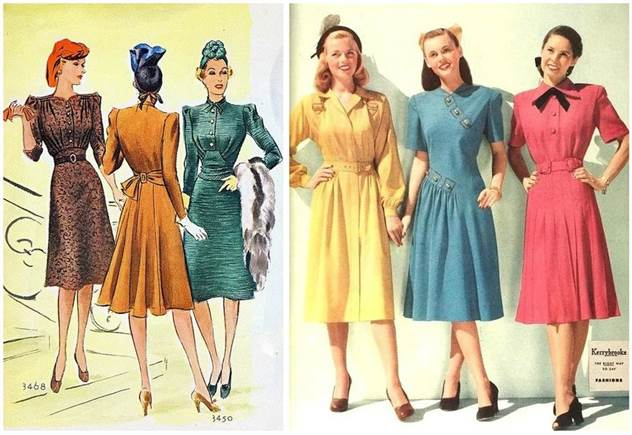 Модные советы для невысоких девушек из книг 1940-х годов ( 6 фото )