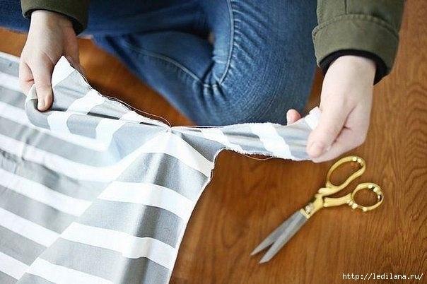 Кухонный коврик или сидушка на стул своими руками из полосок ткани