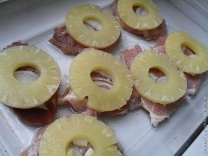 Мясные медальоны с ананасом, рецепты с фото