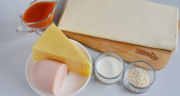 Слоеные — Ушки — на закуску — пошаговый рецепт с фото на