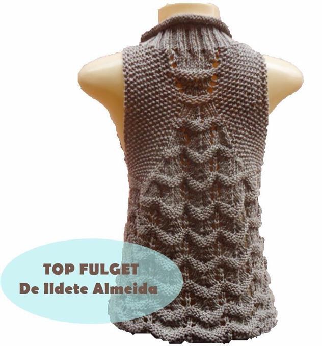Интересный узор для вязания безрукавки
