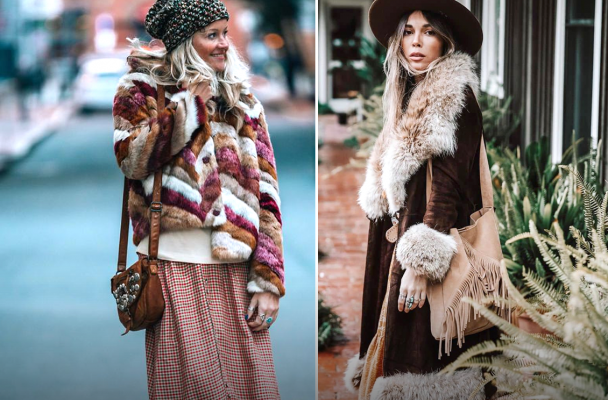 7 образов в стиле «Бохо» на холодное время года: Удобно и красиво