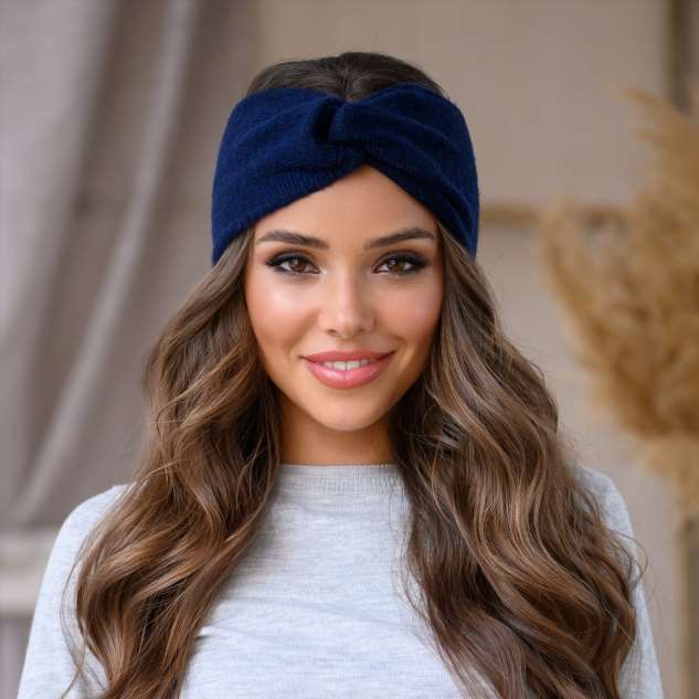 Как связать повязку на голову легко и просто