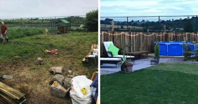 Британка превратила заброшенный задний двор своего дома в маленький оазис
