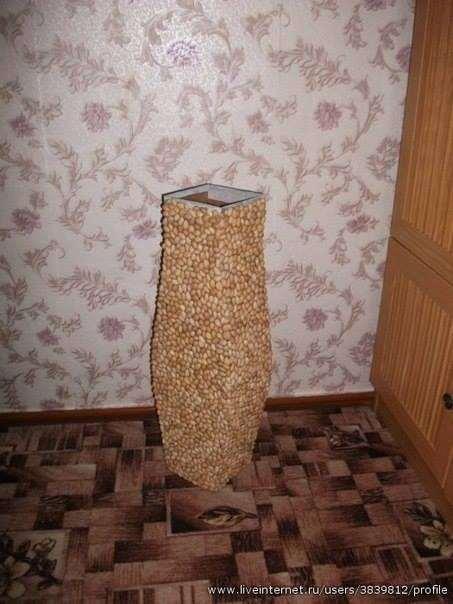 Декоративная напольная ваза своими руками