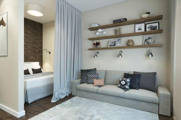 7 супер-идей, как разделить однокомнатную квартиру на две комнаты
