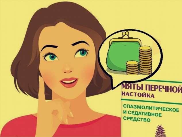 Вот так — настойка мяты за 30 рублей помогает сохранить мой бюджет.
