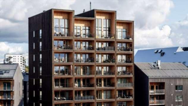 В Швеции построили самое высокое деревянное здание в стране
