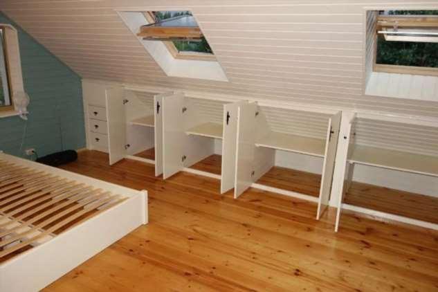 Встроенные шкафы на даче