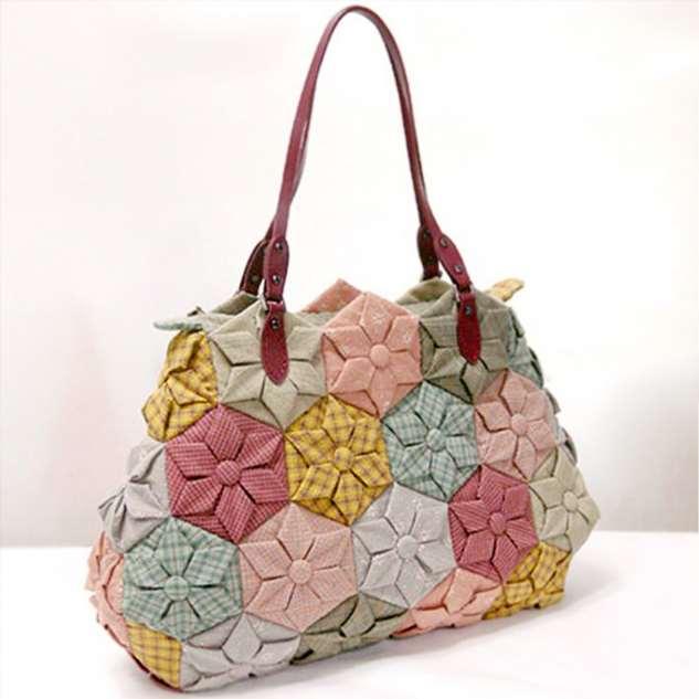 Текстильная сумка из мотивов. Как сделать