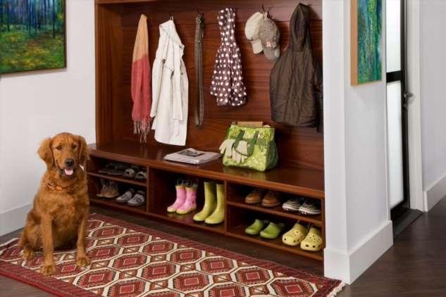 Как хранить обувь в прихожей: интересные примеры