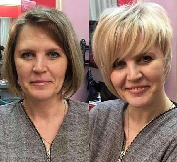 Как короткая стрижка и цвет волос способны преобразить женщину 50+