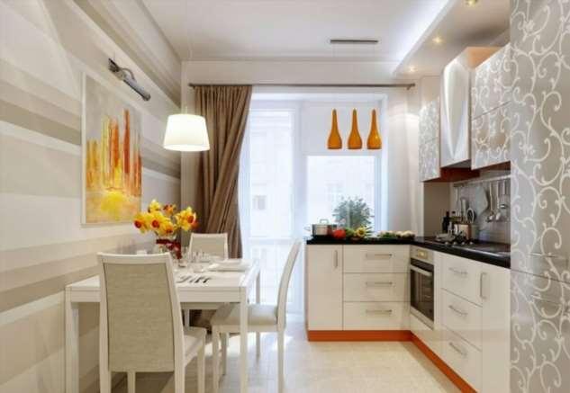 Как выбрать шторы для кухни с балконом?