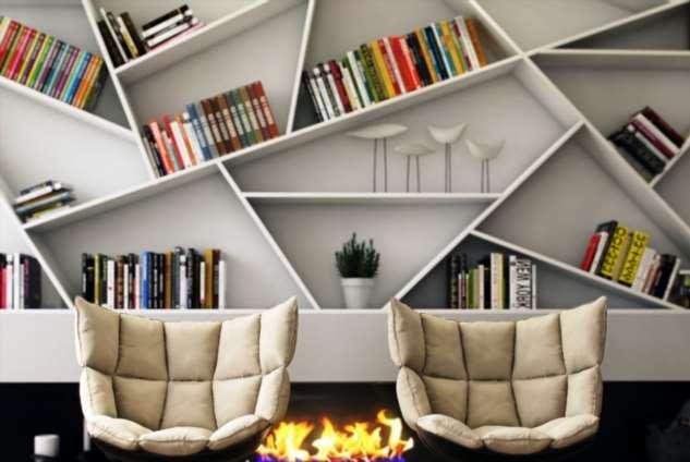 Креативные стеллажи для кабинета и офиса