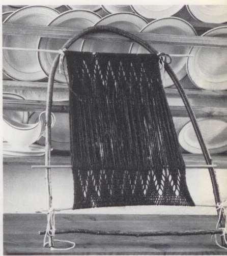 Плетение на стене – sprang. Схемы выработки спренга
