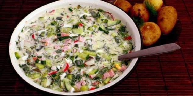 Весной муж ничего, кроме окрошки, есть не желает: рецепт вкусного блюда