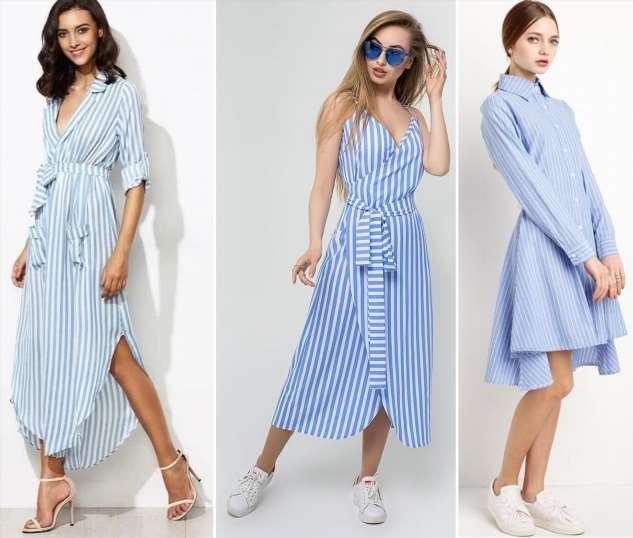 Полосатые платья-рубашки, которые станут хитом этого лета