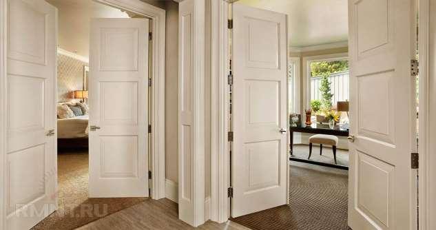 Двустворчатые двери: плюсы, минусы, фотопримеры