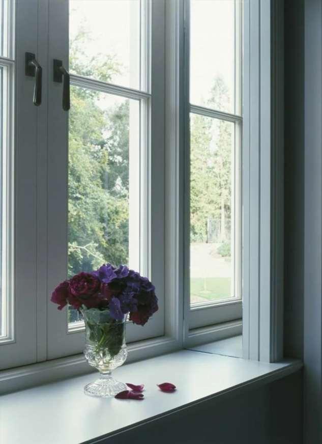 Как украсить откос окна