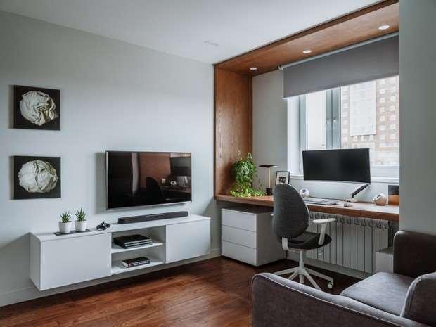 Как уместить в однушке спальню, кабинет и гостиную