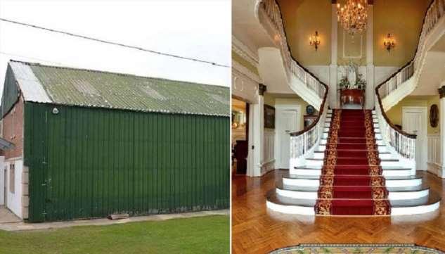 В Британии обнаружили роскошный особняк, тщательно замаскированный за стенами сарая
